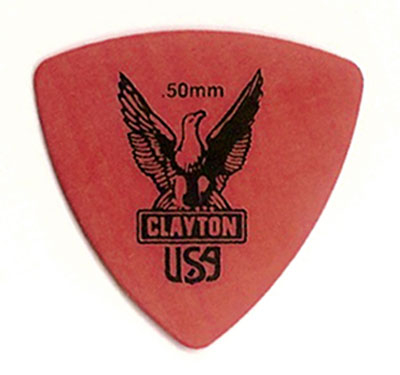 Plektrum Clayton Rounded Triangle rot
