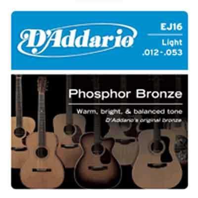 DAddario Phosphor Bronze Round Wound-EJ16, .012-.053 light
