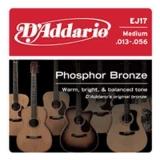 DAddario Phosphor Bronze Round Wound-EJ17, .013-.056 medium