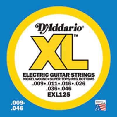 DAddario XL Nickel Round Wound -EXL125, .009-.046 super light tops/regular bottoms