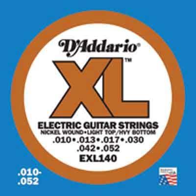 DAddario XL Nickel Round Wound -EXL140, .010-.052 light top/heavy bottom
