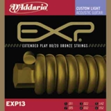 DAddario EXP Coated 80/20 Bronze Round Wound-EXP13, .011-.052 Custom light