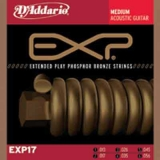 DAddario EXP Coated Phosphor Bronze Round Wound-EXP17, .013-.056 medium