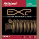 DAddario EXP Coated Phosphor Bronze Round Wound-EXP23, .016-.070 Baritone Guitar