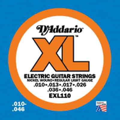 DAddario XL Nickel Round Wound EXL110, .010-.046 regular light