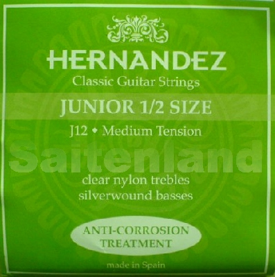 Hernandez Classical Guitar Strings Junior 1/2 Size, J12 korrosionsgeschützt normal