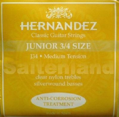 Hernandez Classical Guitar Strings Junior 3/4 Size, J34 korrosionsgeschützt normal