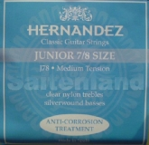 Hernandez Classical Guitar Strings Junior 7/8 Size, J78 korrosionsgeschützt normal