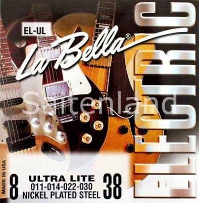 La Bella Nickel Plated Steel -EL-L, .009-.046 light
