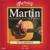 Martin Acoustik Guitar Strings 80/20 Bronze -M140, .012-.054 light