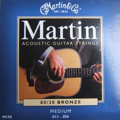 Martin Acoustik Guitar Strings 80/20 Bronze -M150, .013-.056 medium