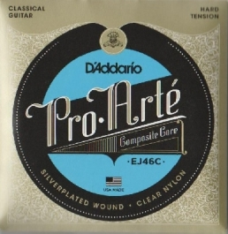 DAddario-EJ46C Pro Arte Classical Guitar Composites, hard