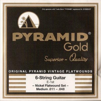 Pyramid Gold Original Vintage Flatwounds 411 100, .011-.048w medium