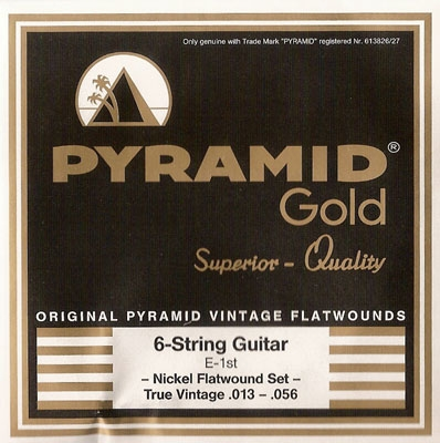 Pyramid Gold Original Vintage Flatwounds 413 100, .013-.056w True Vintage