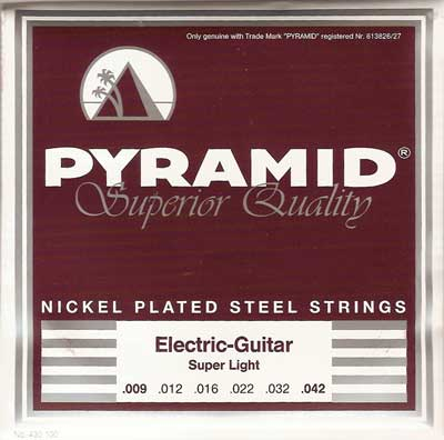 Pyramid Nickel Plated Steel 432100, .010-.052w light top-heavy bottom