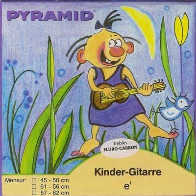 Pyramid Kindergitarresaiten C389200, Mensur 57-62 Carbon normal