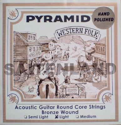 Pyramid Round Core Bronze Hand Polished PR326100, .011-.050w semi light