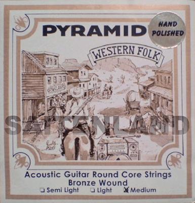 Pyramid Round Core Bronze Hand Polished PR328100, .013-.056w medium