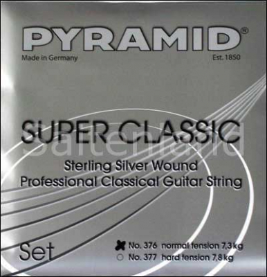 Pyramid Super Classic Sterling Silver Nylon 377200, hard