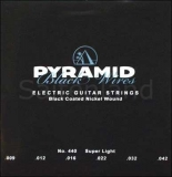 Pyramid Black Wires, Nickel Plated Steel Black Coated 440100, .009-.042w super light