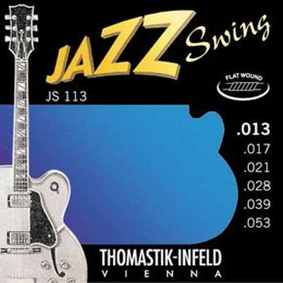 Thomastik Jazz Swing Nickel Flat Wound JS113, .013-.053 medium