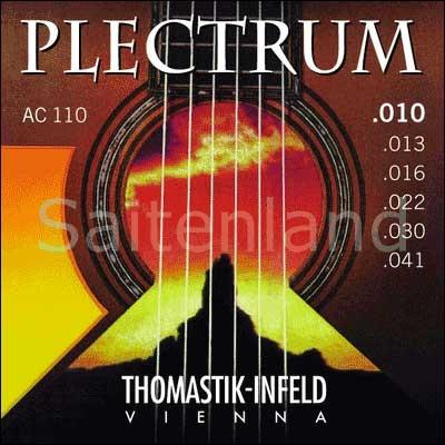 Thomastik Infeld Plectrum AC110, .010-.041w überschliffen, extra light