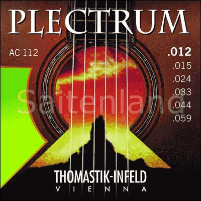 Thomastik Infeld Plectrum AC112, .012-.059w überschliffen, medium-light