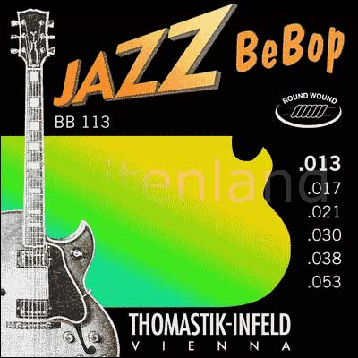Thomastik Jazz BeBop Nickel Round Wound BB113, .013-.053 medium light