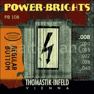 Thomastik Power Brights Regular Bottom PB108, .008-.040 extra light