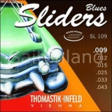 Thomastik Sliders Blues SL109, Seidenbeilage .009-.043 light