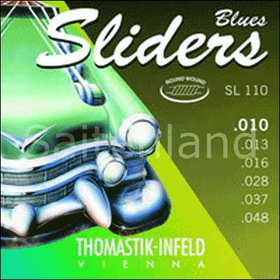 Thomastik Sliders Blues SL110, Seidenbeilage .010-.048 medium light