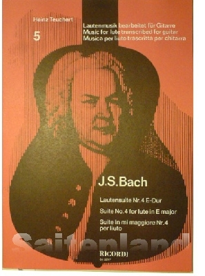 Lautensuite 4 e-Dur, Bach, SY2217