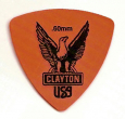 Plektrum Clayton Rounded Triangle orange