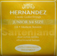 Hernandez Classical Guitar Strings Junior 3/4 Size, J34 korrosionsgesch�tzt normal