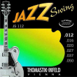 Thomastik Jazz Swing Nickel Flat Wound JS112, .012-.050 medium light