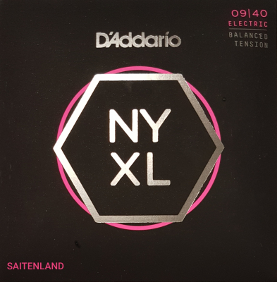 DAddario NYXL0940 Nickel Round Wound .009-.040 balanced super light