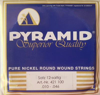 Pyramid 12-Saitig Superior-Quality Pure Nickel 421100, .010-.046w light
