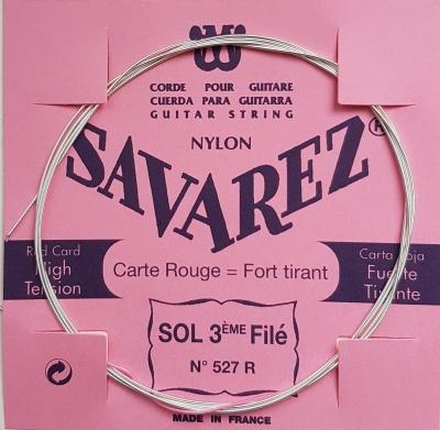 Savarez g/3 wound 527R Einzelsaite rot, hard