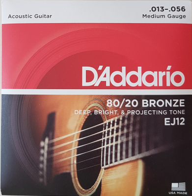 DAddario 80/20 Bronze Round Wound-EJ12, .013-.056 medium