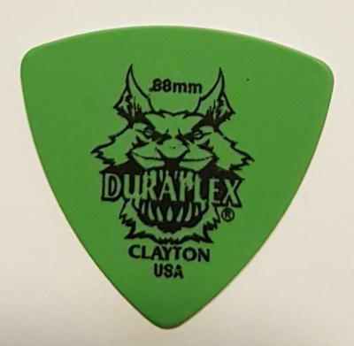 Pick Clayton Rounded Triangle, grün, glatt, medium