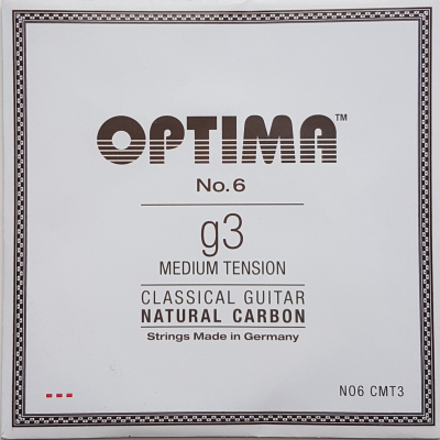 Optima No.6 Natural Carbon g/3 Einzelsaite medium