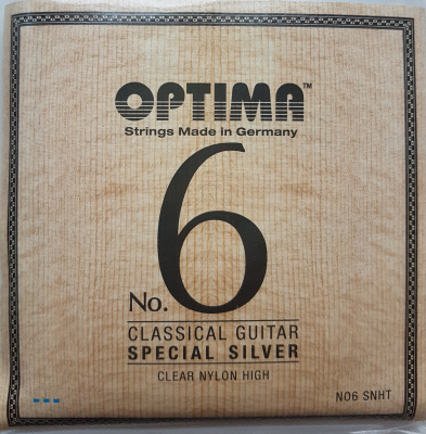 Optima No.6 Special Silver, SNHT, Clear Nylon, hard