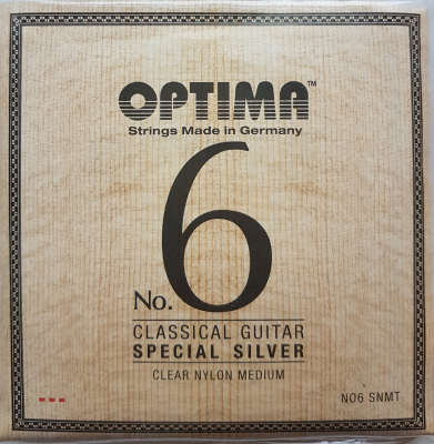 Optima No.6 Special Silver, Clear Nylon, medium