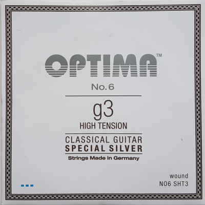 Optima No.6 Special Silver g/3 wound Einzelsaite hard