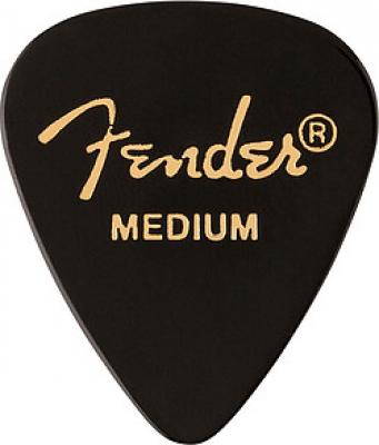 Pick Fender 351, black Celluloid, medium