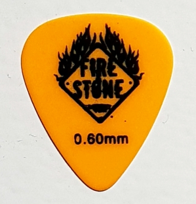 Pick Fire&Stone Texpicks Delrin orange 0,60 mm soft
