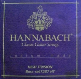 Hannabach Diskant-Satz Custom-Made-7288HT, Carbon hard
