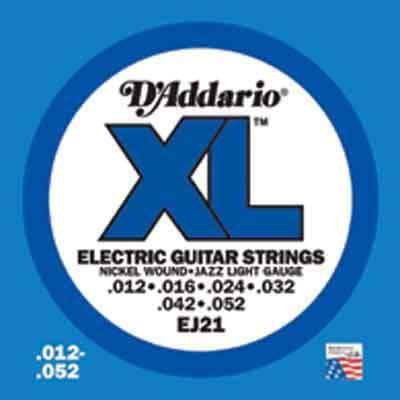 DAddario XL Nickel Round Wound-EJ21, .012-.052 light