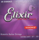 Elixir Nanoweb 11027 80/20 Bronze, .011-.052 custom light