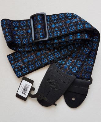 Folklore Gitarrengurt blau von LM, 6cm breit